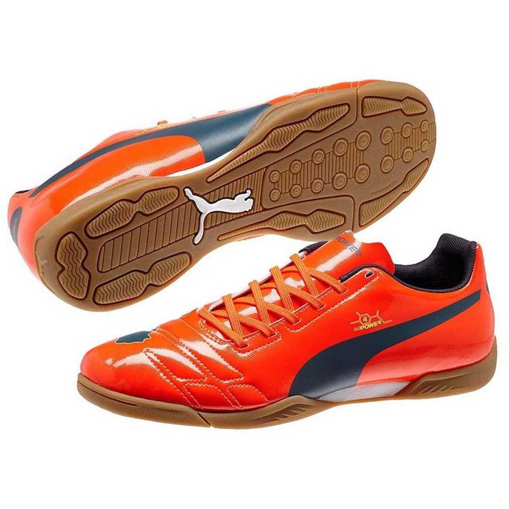 Puma Evopower 4 Peach In Fluro Peach 4 / Ombre Blau , Hallenfussball Puma , fussball bddde2