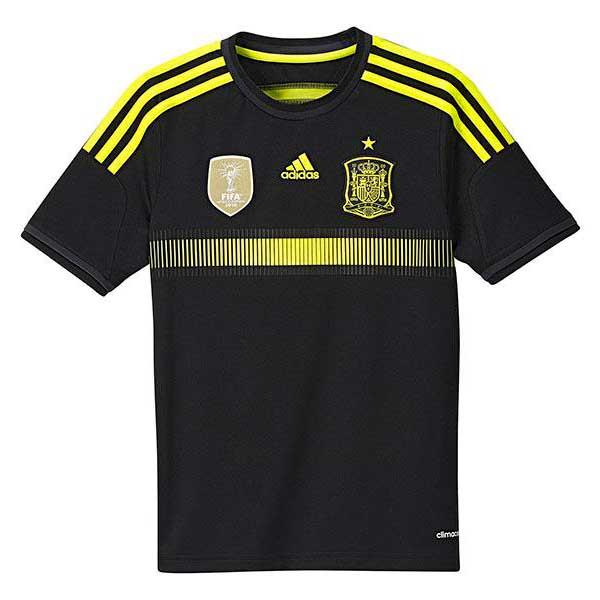 Adidas Spain Away Goalkeeper 2014 Junior 9-10 Years Black / Electric / Dark Shale