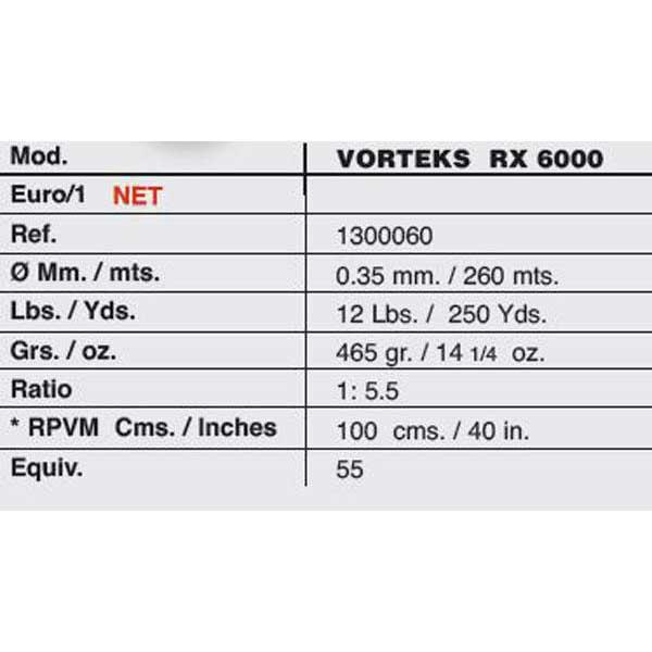 Vorteks Rx 6000 0.35 mm / 260 m Vorteks , Angelrollen Vorteks m , angelsport 06575c