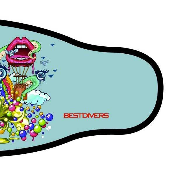 best-divers-neoprene-mask-strap-double-velcro-one-size-pop-art