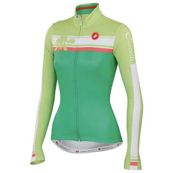 Castelli Palma Woman Jersey Fz Green / Lime , , , Maillots Castelli , cyclisme feebbf