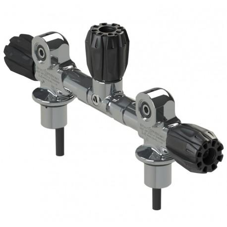 Apeks Valve Twin Cylinder M25 232 Bar With Manifold 140 mm 5/7 L Armaturen Valve Twin Cylinder M25 232 Bar With Manifold 140 Mm 5/7 L