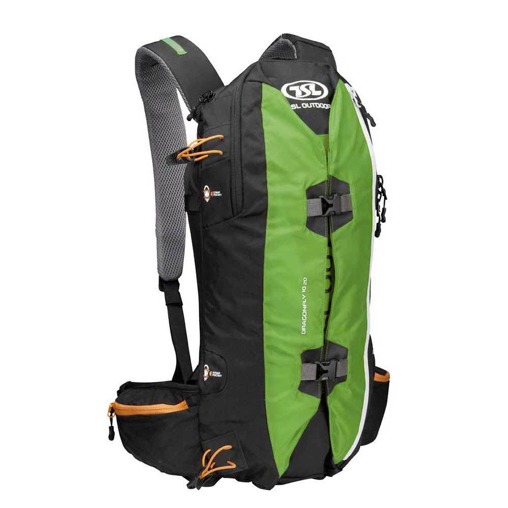 Tsl Outdoor Dragonfly 10/20l Backpack One Size Green / Black