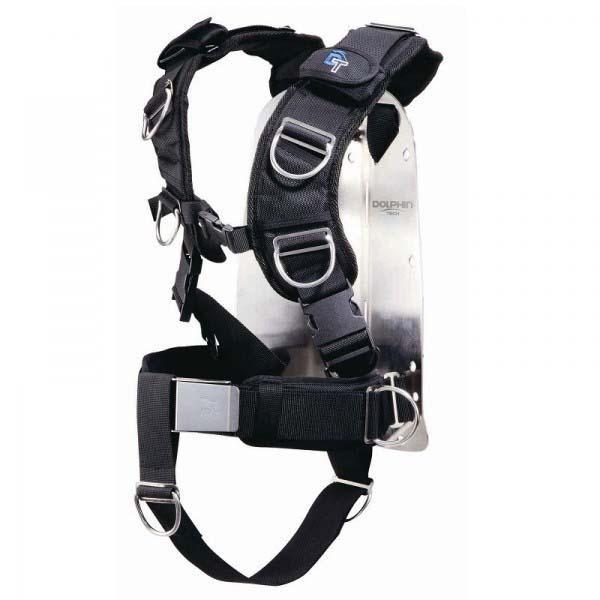 Ist Dolphin Tech Aluminium Backplate With Harness Einzelteile Aluminium Backplate With Harness