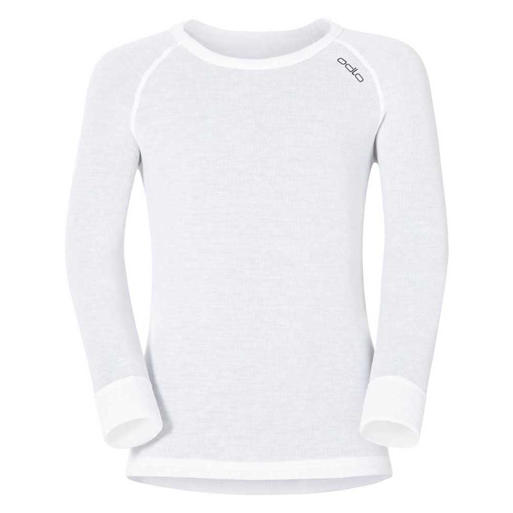 Odlo Shirt L/s Crew Neck Warm Kids 104 White