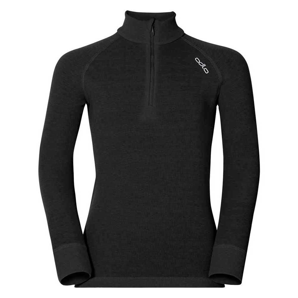 Odlo Shirt L/s Turtle Neck 1/2 Zip Warm 104 Black