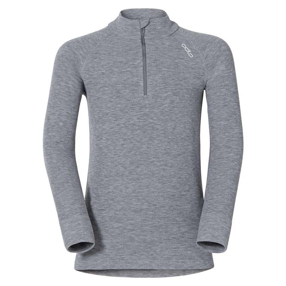 Odlo Shirt L/s Turtle Neck 1/2 Zip Warm 104 Grey Melange