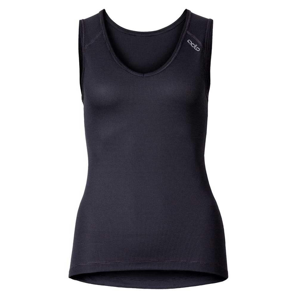 odlo-singlet-v-neck-cubic-xs-ebony-grey-black