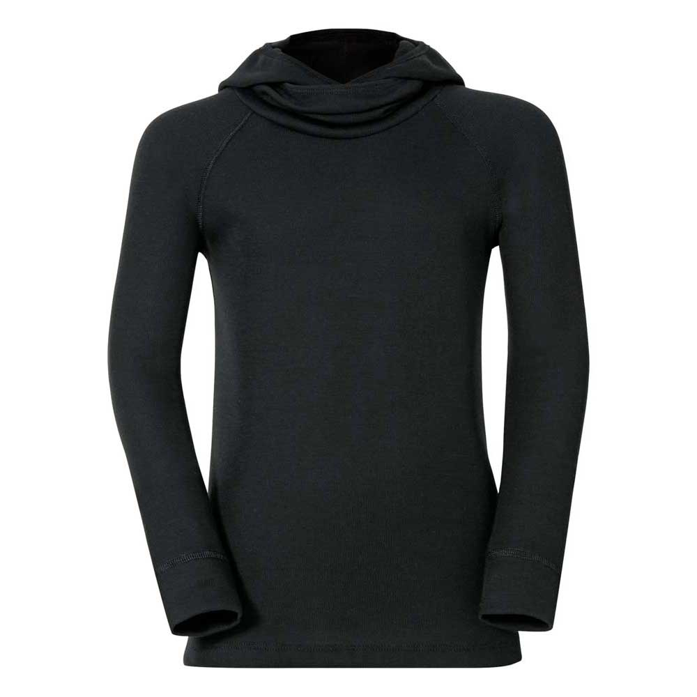 odlo-shirt-l-s-with-facemask-warm-kids-116-cm-black