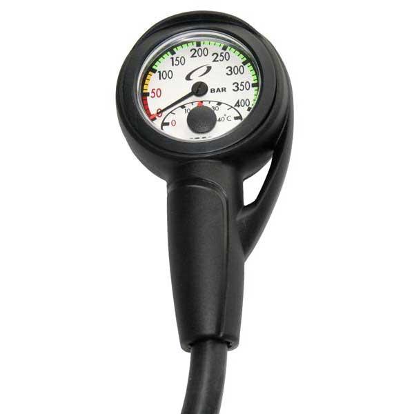 Oceanic Slimline Pro Pressure Gauge Module With Hose & Boot with Hose & Boot Druckmesser Slimline Pro Pressure Gauge Module With Hose & Boot