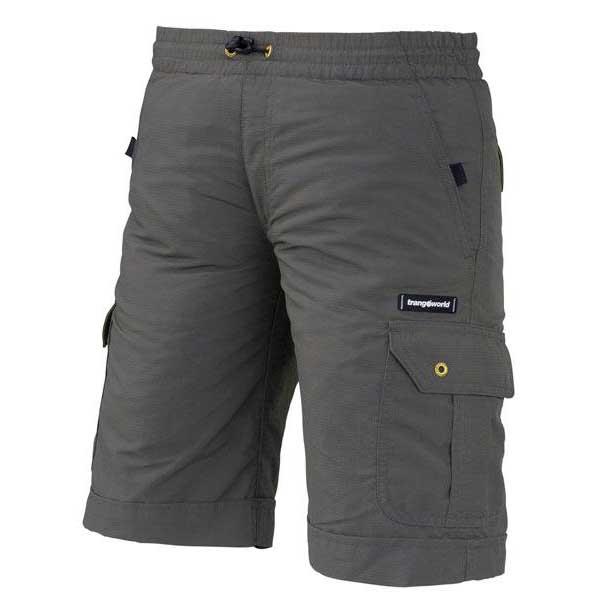 Trangoworld Shorts Crux 4 Grey Metal / Green