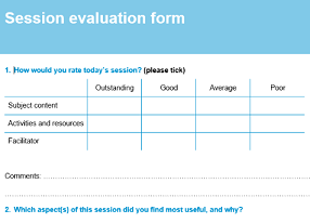 Eval form sample