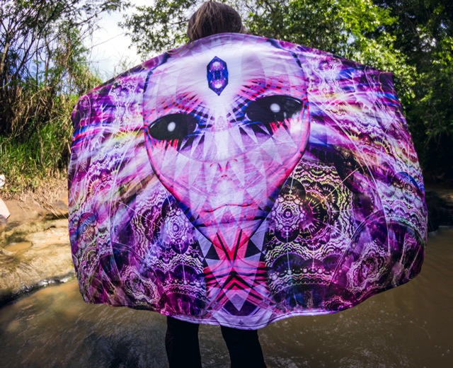 Banner em Tecido Psicodélico - Alien Fractais