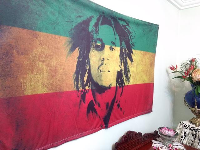 Banner Psicodélico em Tecido - Bob Marley Reggae