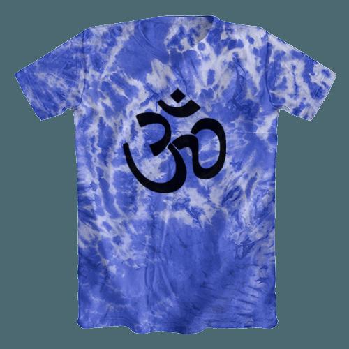 Camiseta Tie Dye Psicodélica Ohm Azul