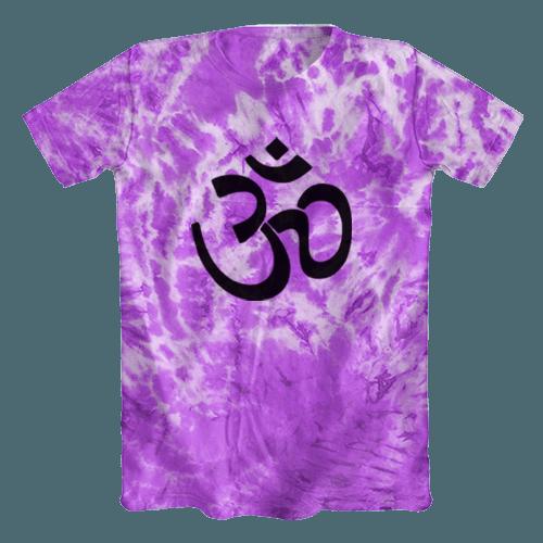 Camiseta Tie Dye Psicodélica Ohm Roxa