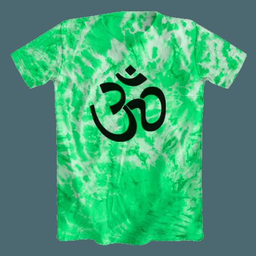 Camiseta Tie Dye Psicodélica Ohm Verde Clara