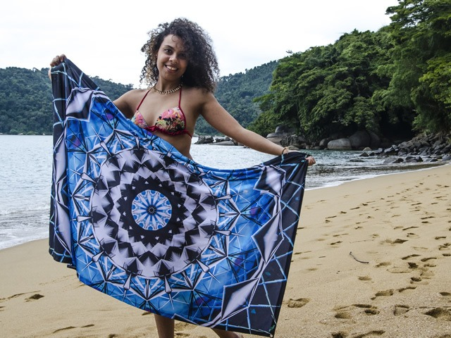 Canga Mandala Psicodélica - Blue Energy
