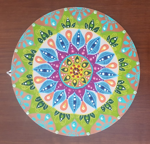 Mandala Circular em MDF