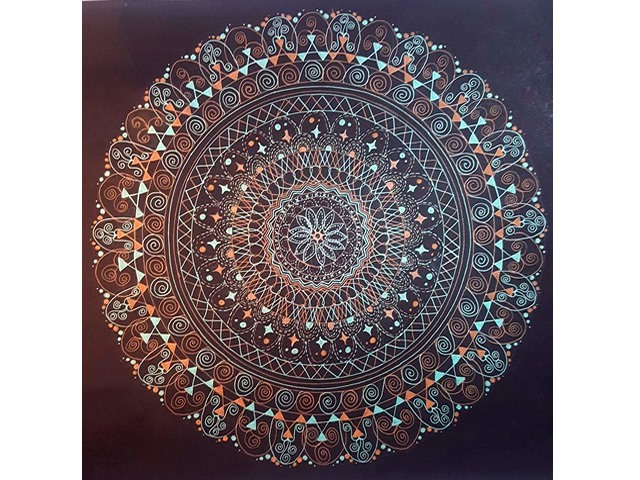 Quadro Mandala - Equilíbrio e Harmonia - 40x40cm