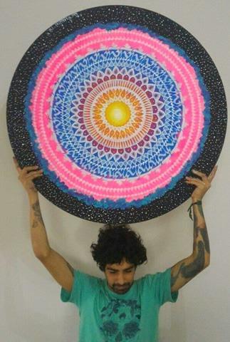 Quadro Psicodélico - Mandala Transcendental Ohm