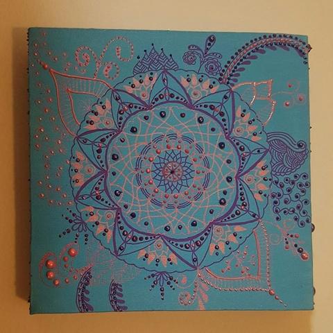 Tela Mandala Azul