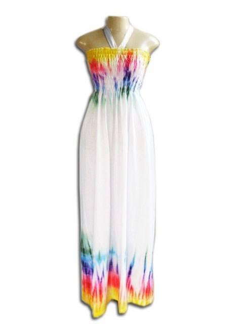 Vestido Longo Lastec Tie Dye Psicodélico 002