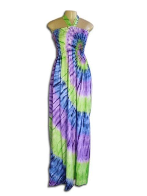 Vestido Longo Lastec Tie Dye Psicodélico 003