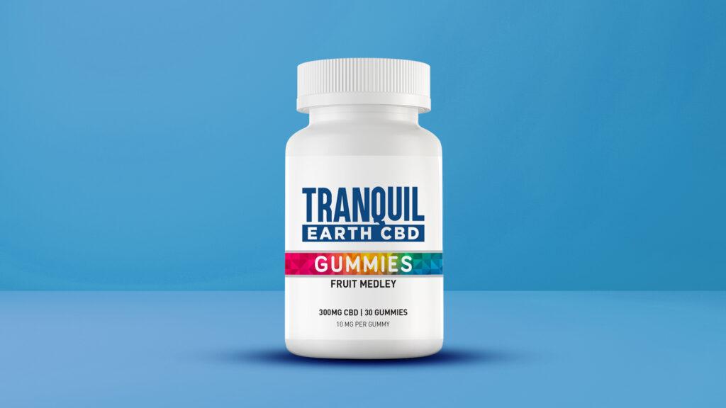Tranquil Earth CBD gummy bottle