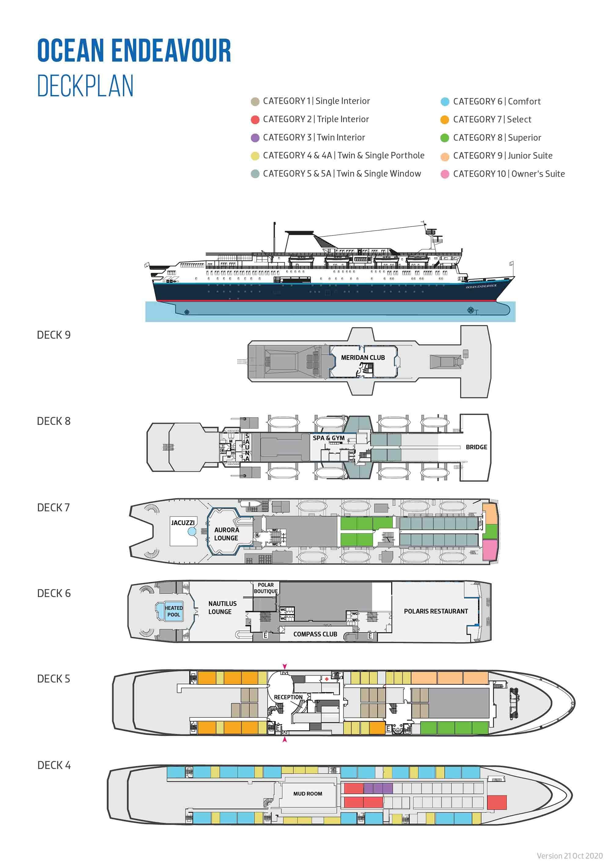 Deck Plans | Ocean Endeavour