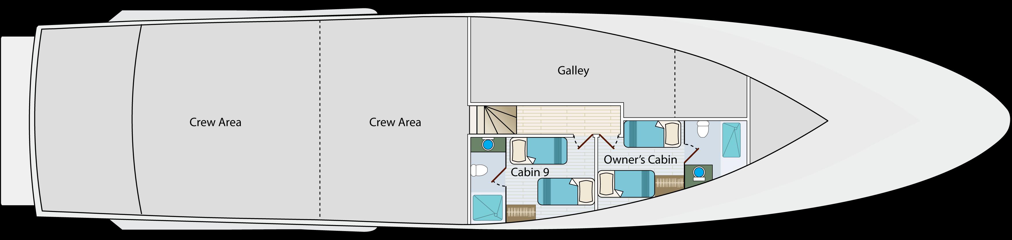 Lower deck   Calipso