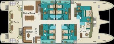 Main deck   M/C Alya