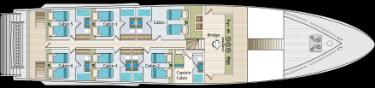 Upper deck | Calipso