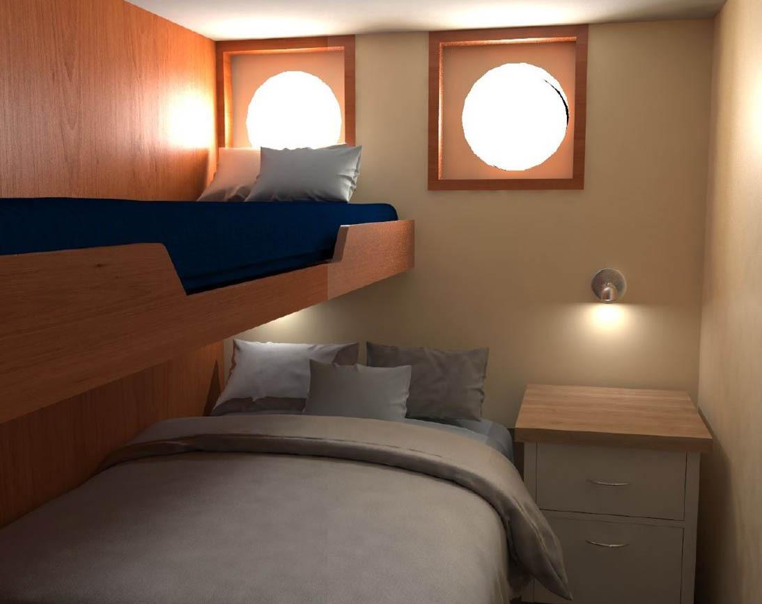 Bedroom  Cachalote Explorer Yacht