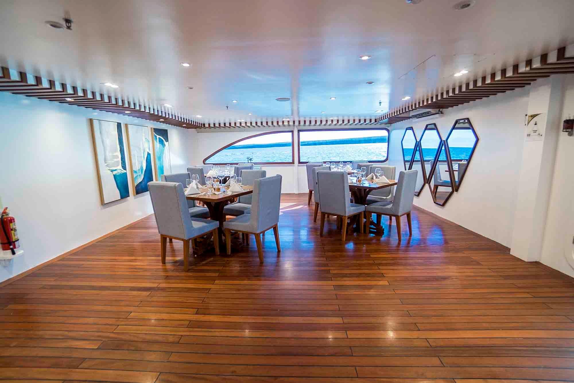Dining area | Ocean Spray Catamaran