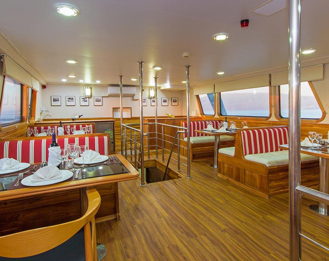 Dining area   Blue Spirit Yacht