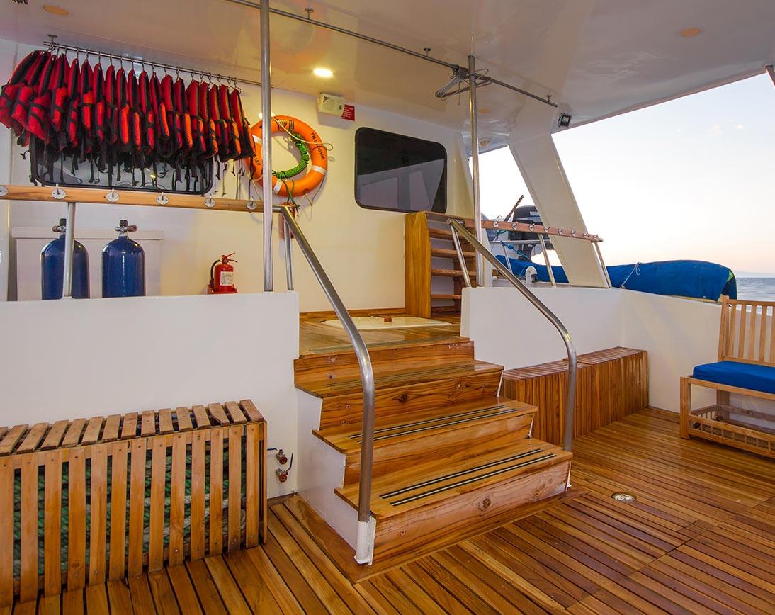 Social area   Blue Spirit Yacht