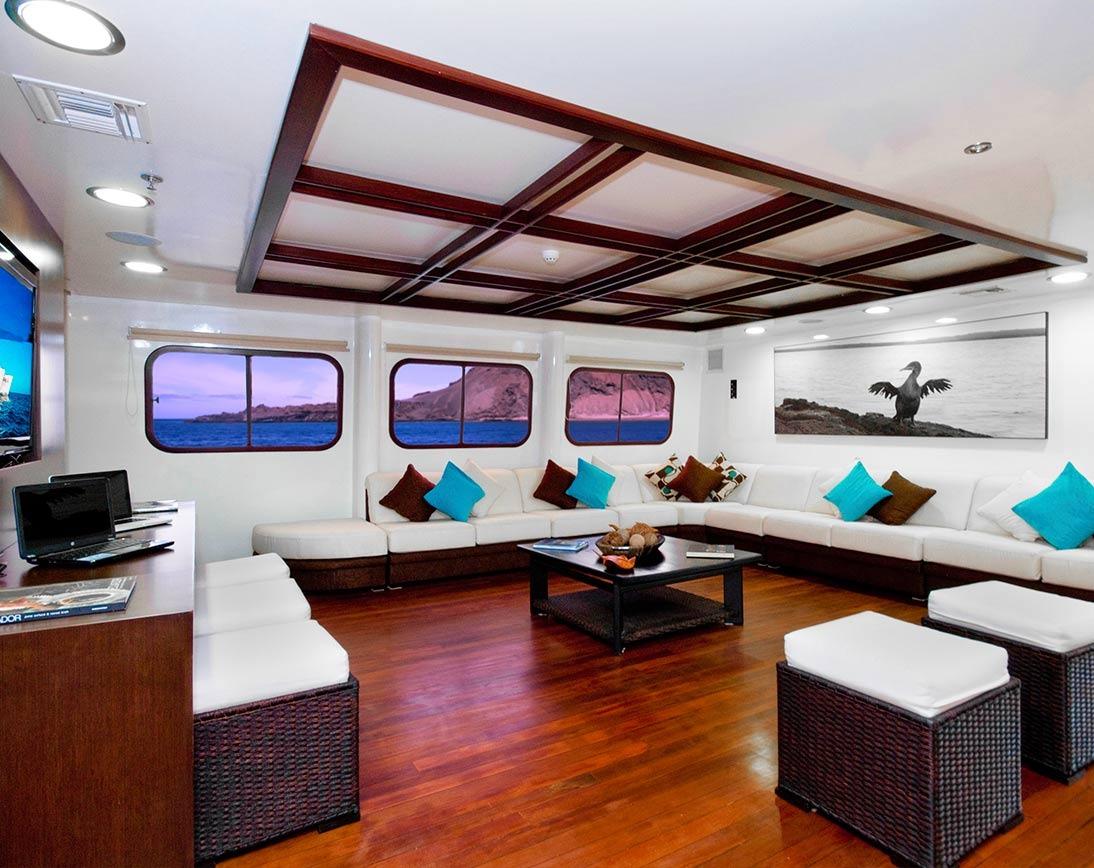 Living area   Cormorant Catamaran