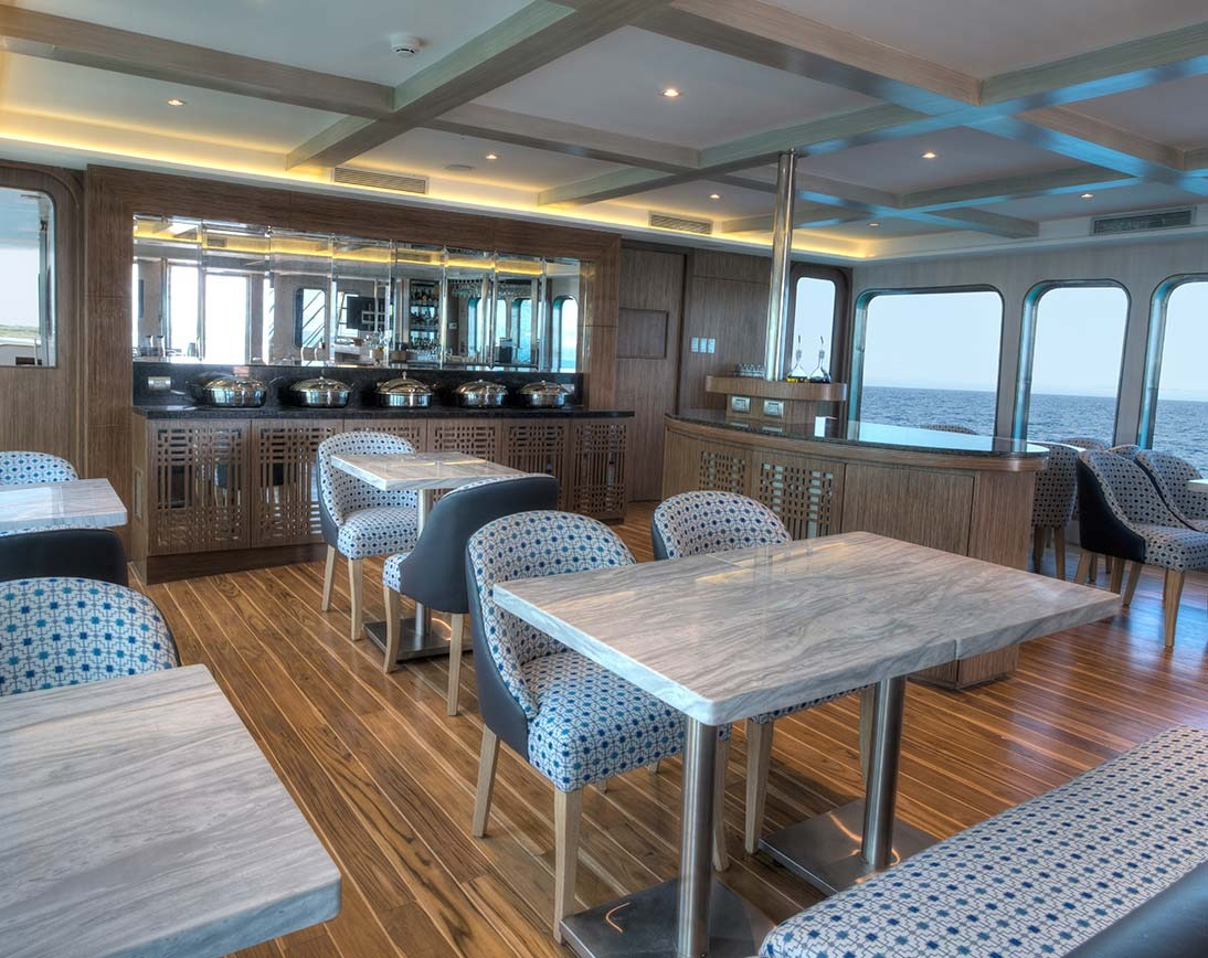 Dining area | Origin Yacht