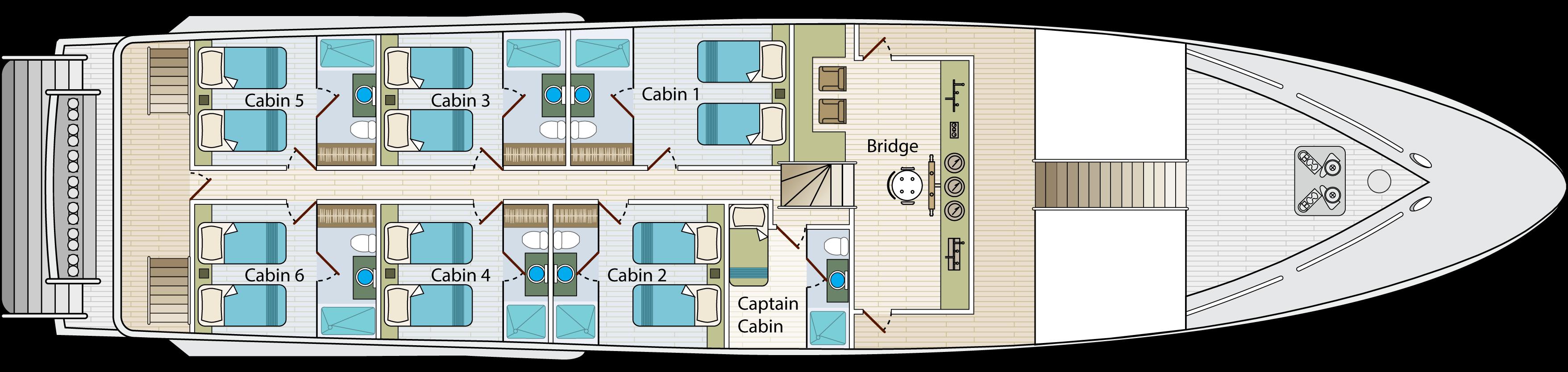 Upper deck   Calipso