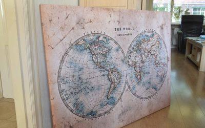 Een echte eyecatcher: een reuze wereldkaart van wereldkaarten.nl