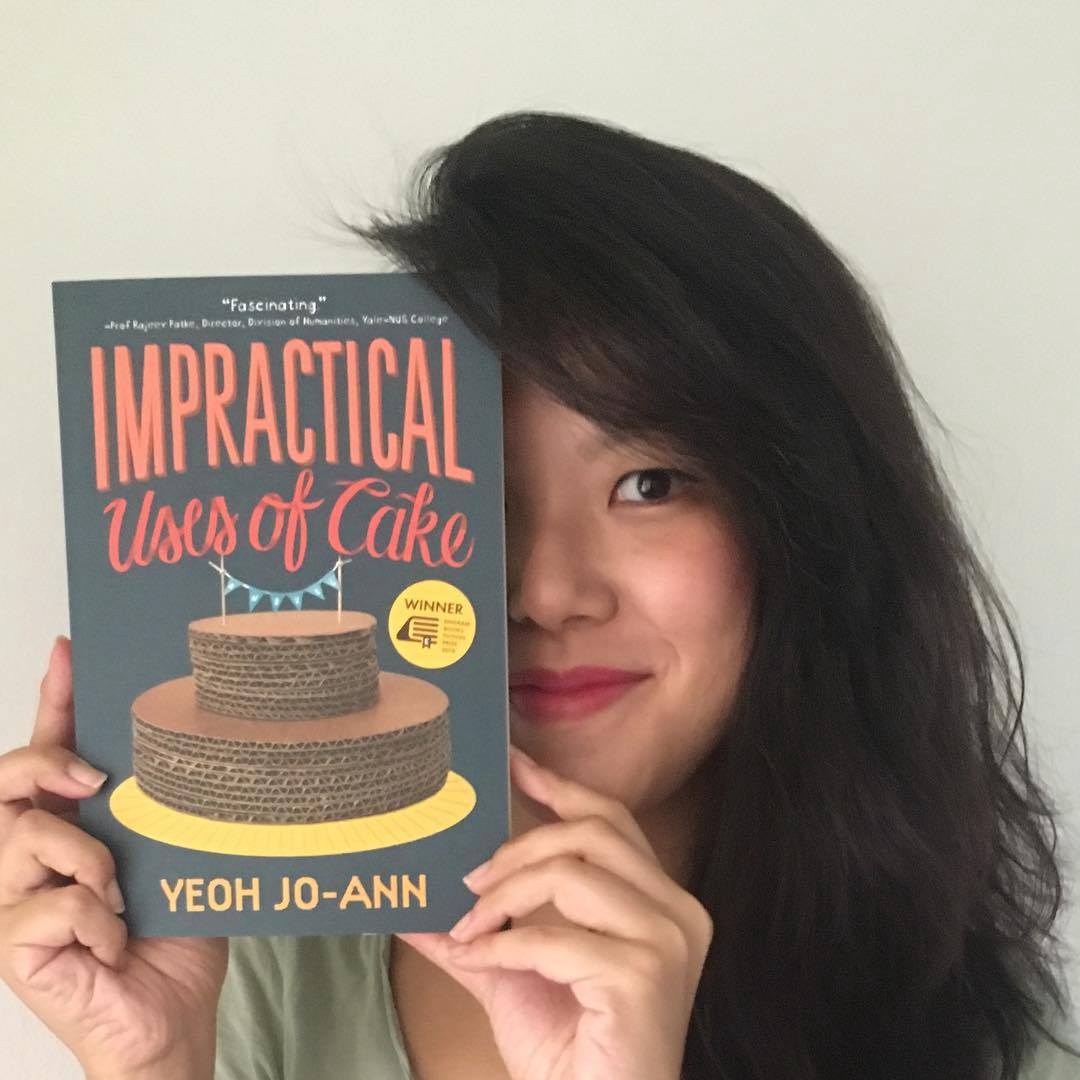 Yeoh Jo-Ann with her novel