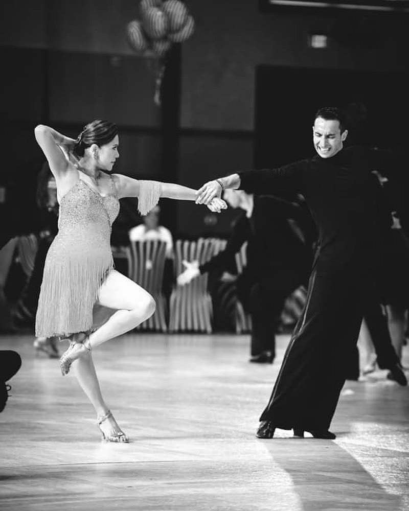 The principal of Aquilia Dance Academy, Rosario Privitera and his dance partner, Mary