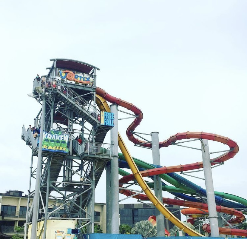 The vortex ride tower