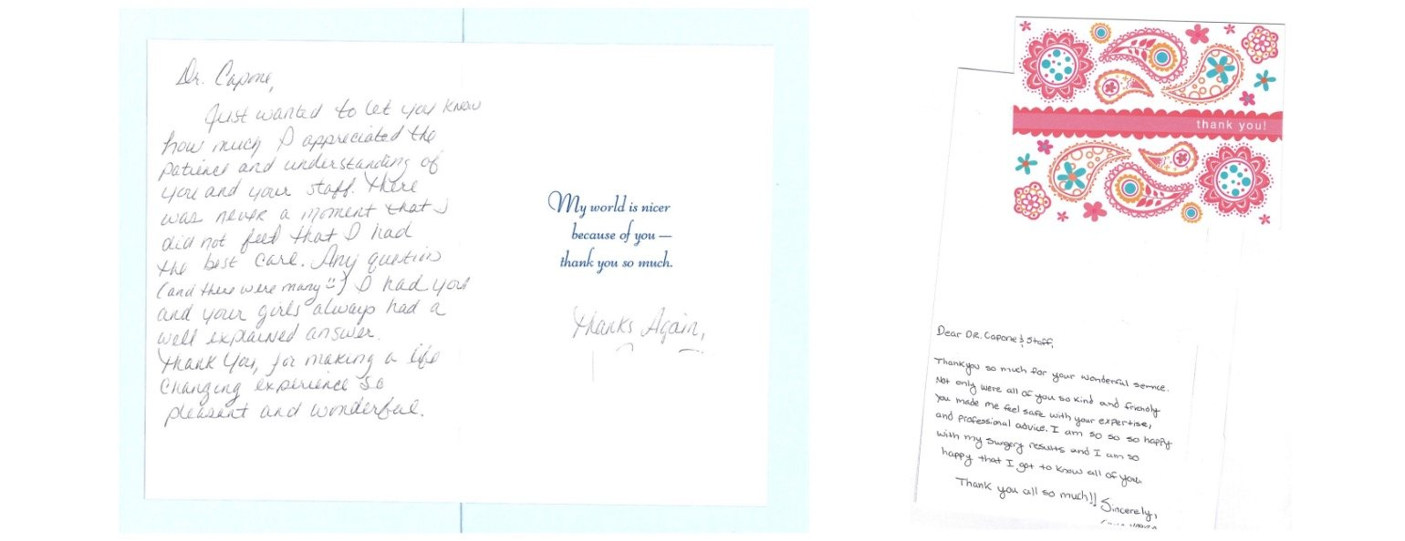 Letter of Thanks to Doctor and Staffer 13
