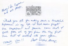 Letter of Thanks to Doctor and Staffer by Summer