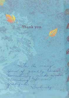 Letter of Thanks to Doctor and Staffer by Catherine