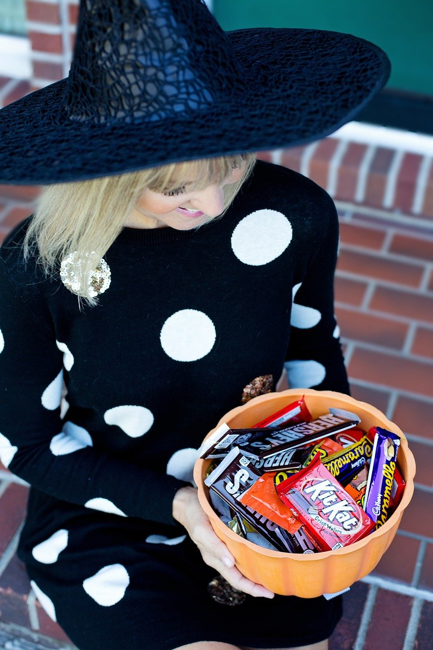 Halloween Candy Trick or Treater Bowl of Candy