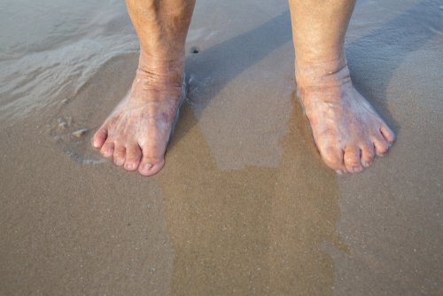 older person feet