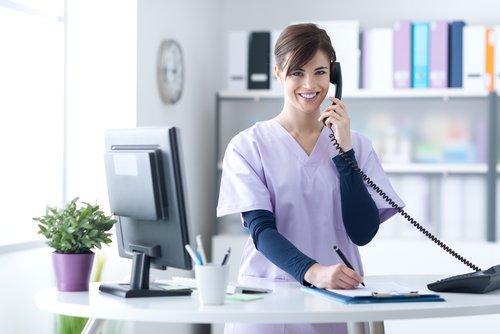 Medical Receptionist on Phone